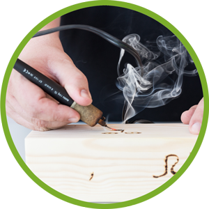 Branding auf Holz