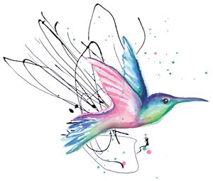 Kolibri als Aufzählungspunkt